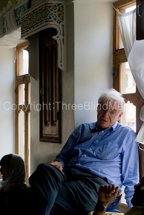 Yemen. Prof. Ronald B. Lewcock at lunch at Shibam.