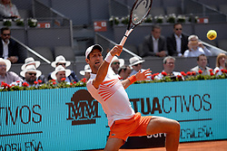 May 7, 2019 - Madrid, Spain - Novak Jdoković (SRB) in his match against Taylor Fritz (USA) during day four of the Mutua Madrid Open at La Caja Magica in Madrid on 7th May, 2019. (Credit Image: © Juan Carlos Lucas/NurPhoto via ZUMA Press)