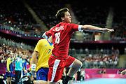 DESCRIZIONE : Handball Jeux Olympiques Londres Quart de Finale<br /> GIOCATORE : Hans Lindberg<br /> SQUADRA : Danemark Homme<br /> EVENTO : Handball Jeux Olympiques<br /> GARA : Danemark Suede<br /> DATA : 08 08 2012<br /> CATEGORIA : handball Jeux Olympiques<br /> SPORT : HANDBALL<br /> AUTORE : JF Molliere <br /> Galleria : France JEUX OLYMPIQUES 2012 Action<br /> Fotonotizia : Handball Homme Jeux Olympiques Londres Quart de Finale Basketball Arena<br /> Predefinita :