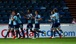 Dayle Southwell of Wycombe Wanderers celebrates with teammates after scoring a goal to make it 1-0 - Mandatory by-line: Robbie Stephenson/JMP - 29/08/2017 - FOOTBALL - Adam's Park - High Wycombe, England - Wycombe Wanderers v Bristol Rovers - Checkatrade Trophy