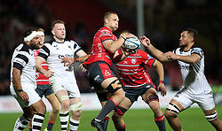 Gloucester's Ruan Ackermann during the Gallagher Premiership match at Kingsholm Stadium, Gloucester.