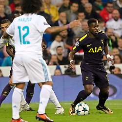 Davinson Sanchez of Tottenham Hotspur in action during Uefa Champions League (Group H) match between Real Madrid and Tottenham Hotspur at Santiago Bernabeu Stadium on October 17, 2017 in Madrid  (Spain) (Photo by Luis de la Mata / SportPix.org.uk)