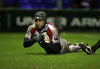 Photo: Rich Eaton.<br /> <br /> Sale Sharks v Bristol Rugby. Guinness Premiership. 01/01/2007. Dan Ward-Smith goes over for Bristol in the second half