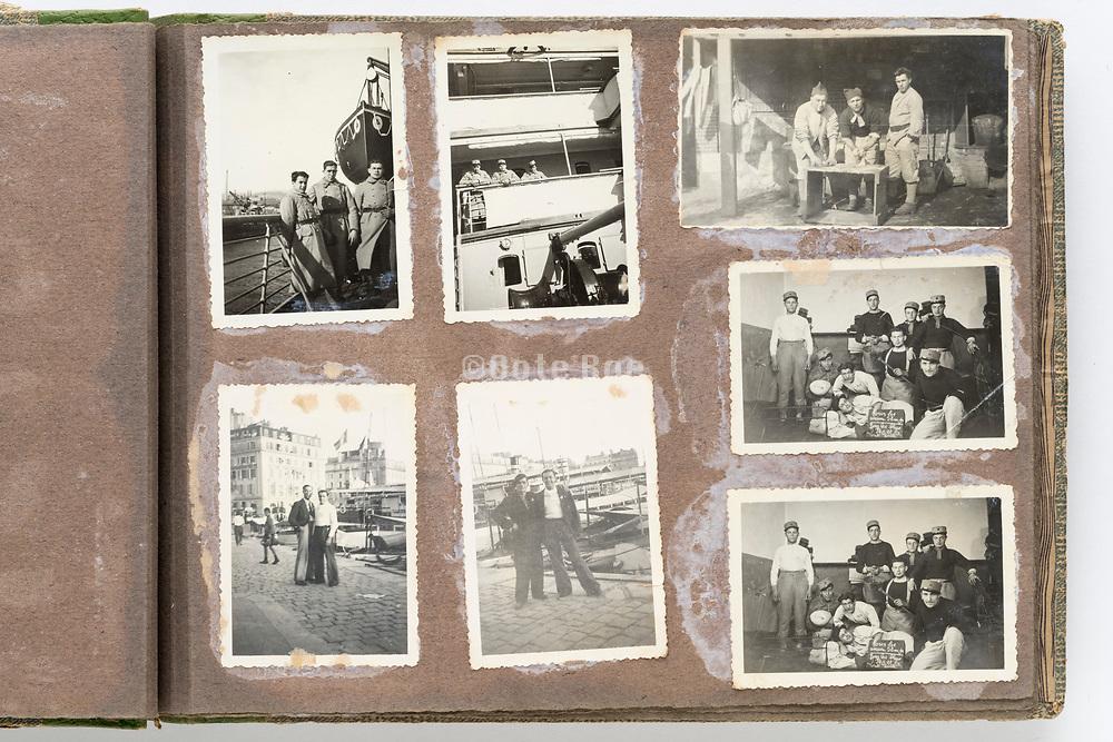 deteriorating family photo album France ca 1960s