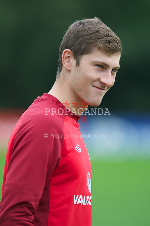 CARDIFF, WALES - Monday, September 3, 2012: Wales' Ben Davies during a training session at the Vale of Glamorgan ahead of the Brazil 2014 FIFA World Cup Qualifying Group A match against Belgium. (Pic by David Rawcliffe/Propaganda)