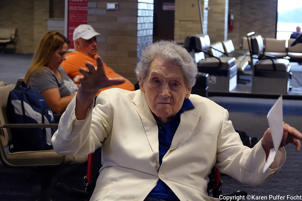 Rock and Roll Legend Jerry Lee Lewis,81, prepares to board a plane to New York in Memphis, Tennessee. Lewis, who is also known as The Killer,  still performs on occasion, is the last living member of the Million Dollar Quartet, who recorded at Sun Records in Memphis, Tennessee with Sam Phillips. The other artists were Elvis Presley, Johnny Cash, and Carl Perkins.