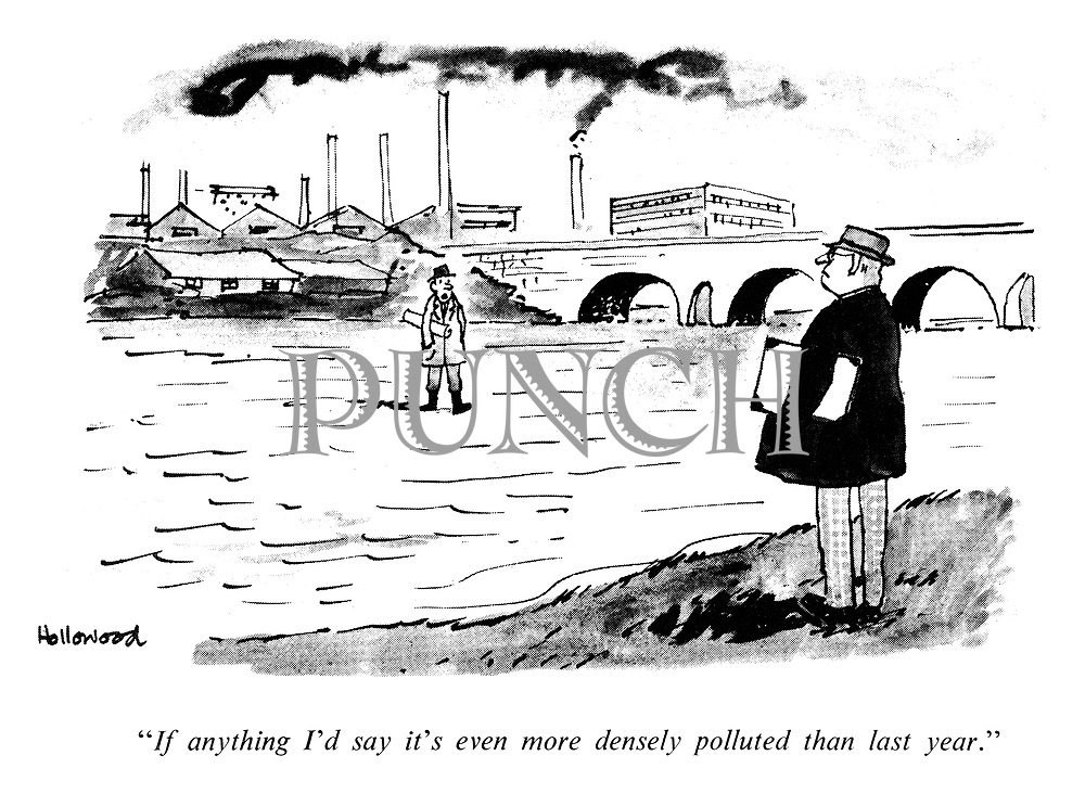 """If anything I'd say it's even more densely polluted than last year."""