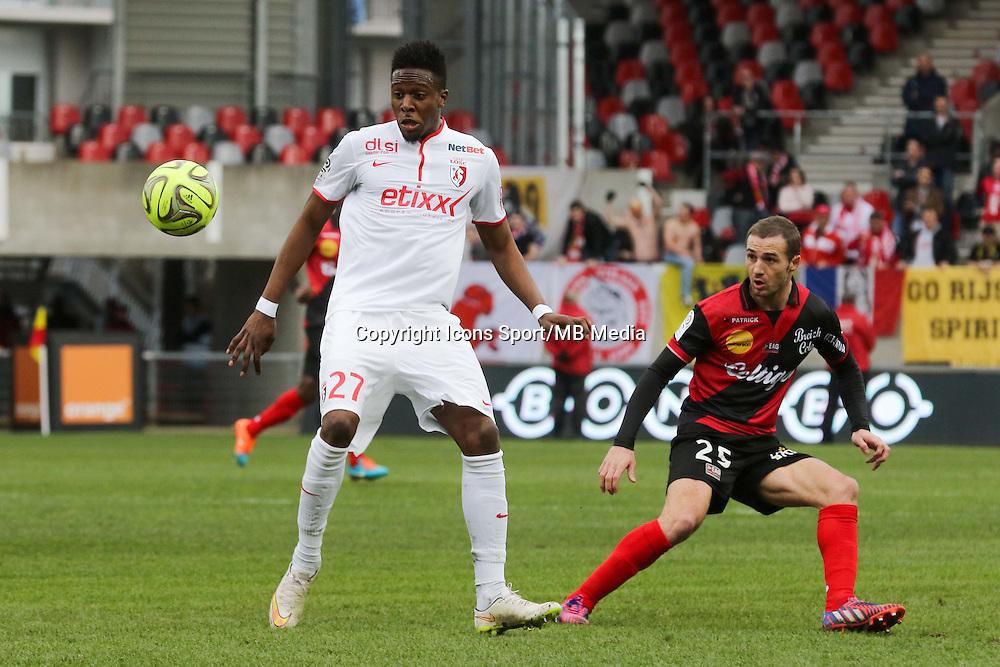 Divock ORIGI / Reynald LEMAITRE  - 08.03.2015 - Guingamp / Lille - 28eme journee de Ligue 1 <br /> Photo : Vincent Michel / Icon Sport