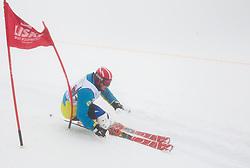 Klemen Kosi during last race of Andrej Jerman, Slovenian best downhill skier when he finished his professional alpine ski career on April 6, 2013 in Krvavec Ski resort, Slovenia. (Photo By Vid Ponikvar / Sportida)