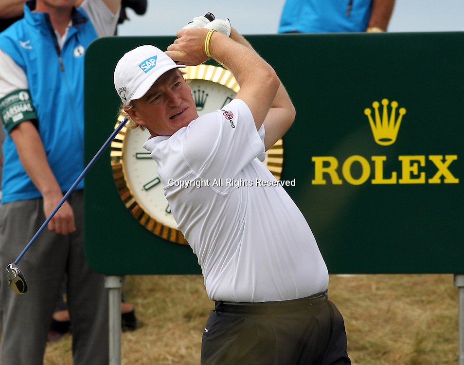 22.07.12 Lytham & St Annes, England. Ernie Els of South Africa in action on his way to winning during the fourth and final round of The Open Golf Championship from the Royal Lytham & St Annes course in Lancashire