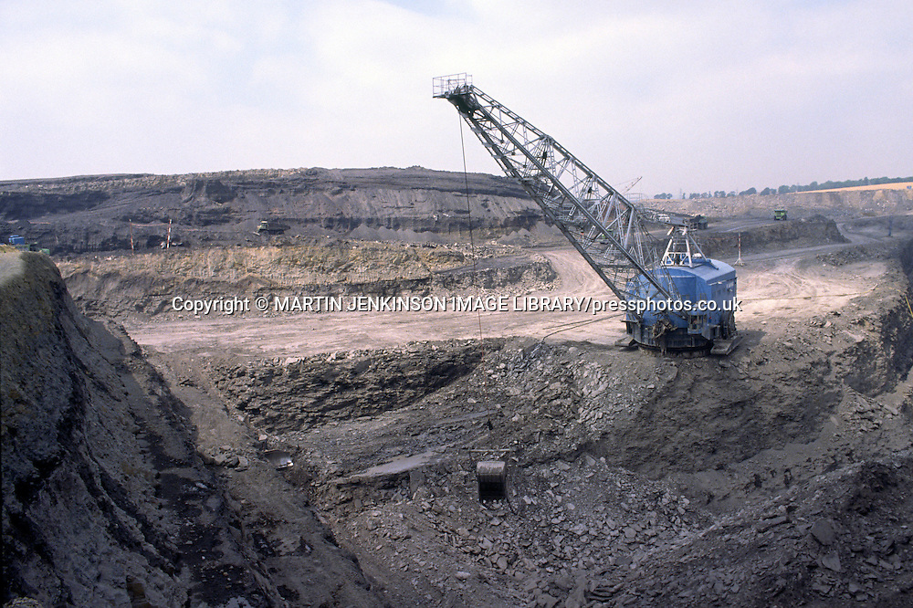 Opencast mining on the site of the Ackton Hall Colliery ....