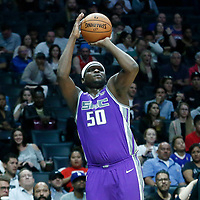 12 October 2017: Sacramento Kings forward Zach Randolph (50) takes a jump shot during the LA Clippers 104-87 victory over the Sacramento Kings, at the Staples Center, Los Angeles, California, USA.