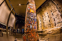 Last Column from Groud Zero and Slurry Wall segment, National September 11 Memorial & Museum, New York, New York USA.
