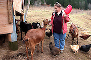 Life at Alpha Farm Intentional Community in Deadwood Oregon.