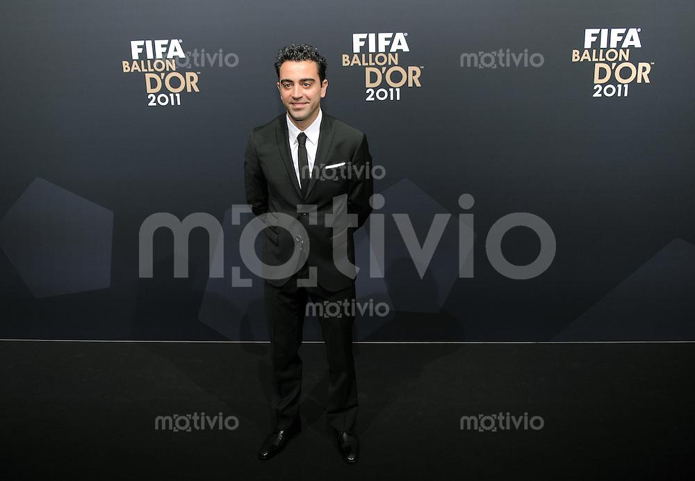 Fussball International  FIFA Ballon d Or / Weltfussballer 2011   09.01.2012 Xavi Hernandez (Barca)
