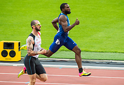 06-08-2017 IAAF World Championships Athletics day 4, London<br /> Ramil Guliyev TUR, Ameer Webb USA, 200 meter