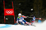 Bode Miller, USA, competes in the Men's Giant Slalom during the 2010 Vancouver Winter Olympics in Whistler, British Columbia, Tuesday, Feb. 23, 2010. Miller failed to finish the first run.
