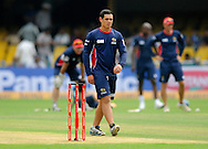 Quinton De Kock of Highveld Lions during a practice session before the start of match 4 of the Karbonn Smart Champions League T20 (CLT20) 2013  between The Highveld Lions and the Perth Scorchers held at the Sardar Patel Stadium, Ahmedabad on the 23rd September 2013<br /> <br /> Photo by Pal PIllai-CLT20-SPORTZPICS  <br /> <br /> Use of this image is subject to the terms and conditions as outlined by the CLT20. These terms can be found by following this link:<br /> <br /> http://sportzpics.photoshelter.com/image/I0000NmDchxxGVv4