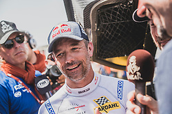 Sebastien Loeb (FRA) of PH Sport at the finish line of the Rally Dakar 2019 in stage Pisco to Lima, Peru on January 17, 2019. // Flavien Duhamel/Red Bull Content Pool // AP-1Y5HCG1UD2111 // Usage for editorial use only // Please go to www.redbullcontentpool.com for further information. //