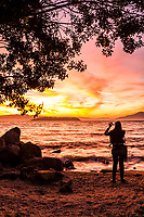 Por do sol na Ponta do Sambaqui. Florianópolis, Santa Catarina, Brasil. / Ponta do Sambaqui at sunset. Florianopolis, Santa Catarina, Brazil.