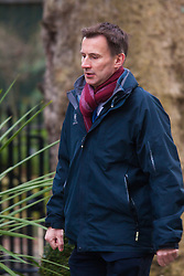 London, March 3rd 2015. Members of the cabinet arrive at 10 Downing Street for their weekly meeting. PICTURED: Health Secretary Jeremy Hunt