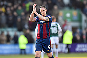 Matthew Kilgallon (5) of Bradford City applauds, claps the away fans after a 1-0 loss to Plymouth Argyle during the EFL Sky Bet League 1 match between Plymouth Argyle and Bradford City at Home Park, Plymouth, England on 24 February 2018. Picture by Graham Hunt.
