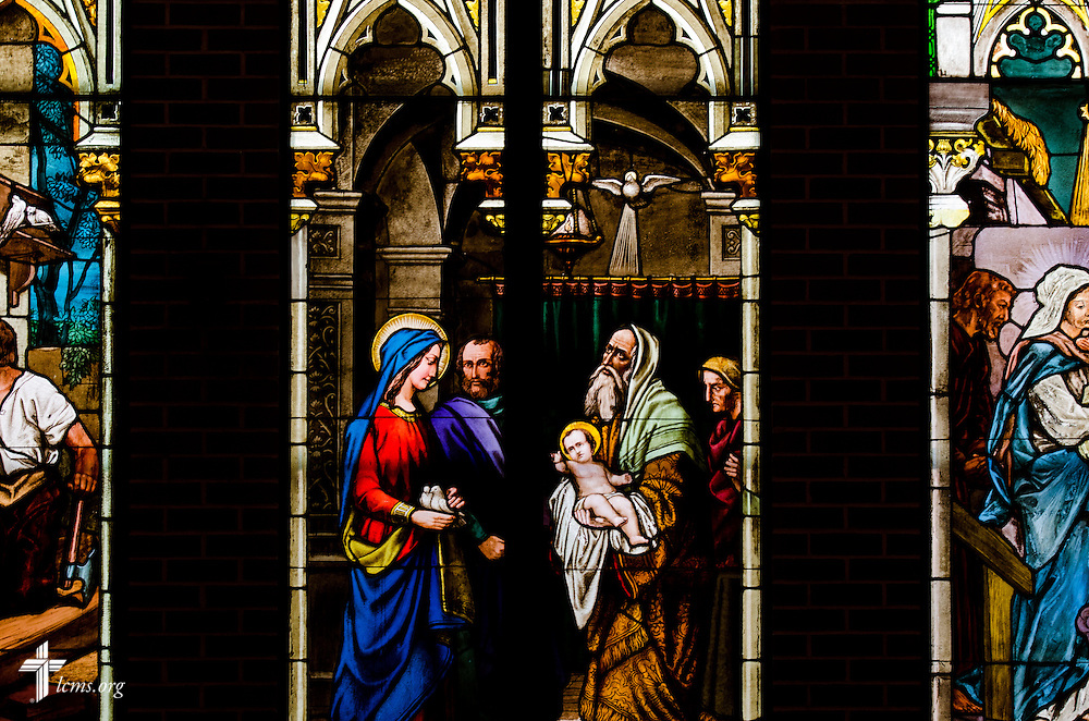 Stained glass at Martini Lutheran Church in Baltimore, Md., on Thursday, March 27, 2014. LCMS Communications/Erik M. Lunsford