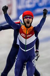 13-01-2018 DUI: ISU European Short Track Championships 2018 day 2, Dresden<br /> Sjinkie Knegt NED #2 wint ook de 500 meter