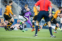 Falkirk's John Baird cele scoring their second goal. <br /> half time : Falkirk 3 v 0 Alloa Athletic, Scottish Championship game played at The Falkirk Stadium.