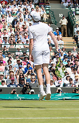 LONDON, ENGLAND - Wednesday, July 6, 2016:   Sam Querrey (USA) during the Gentlemen's Single Quarter Final match on day ten of the Wimbledon Lawn Tennis Championships at the All England Lawn Tennis and Croquet Club. (Pic by Kirsten Holst/Propaganda)