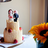 Custom cake top detail at a Fairmont Hotel Vancouver Wedding - Vancouver Wedding Photography