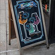 Blackboard Happy Hour 4-7pm Chardonnay $9, Peron $5 and  Sangioves $9.