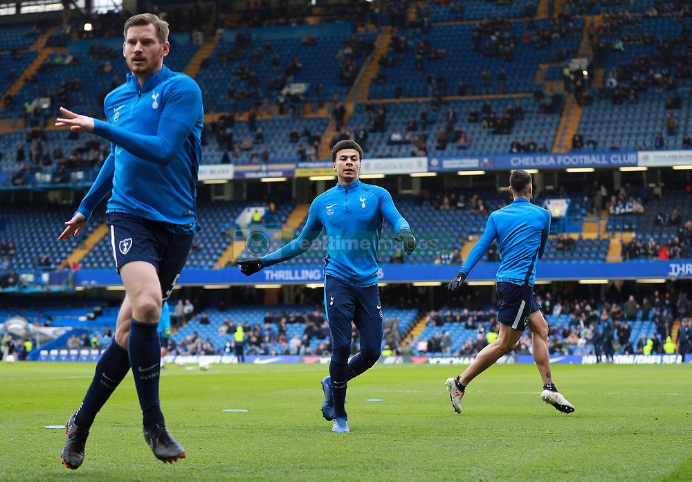 Tottenham Hotspur's Dele Alli warming up before the game