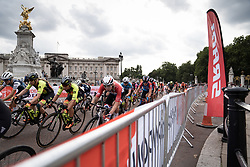 Lorena Wiebes (NED) of Parkhotel Valkenburg Cycling Team leans into a corner during the Prudential RideLondon Classique, a 68 km road race starting and finishing in London, United Kingdom on August 3, 2019. Photo by Balint Hamvas/velofocus.com