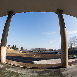 20121219: SLO, Ice Hockey - Preparing stadium Bezigrad for Winter Classic of HDD Olimpija