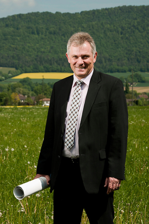 Del&eacute;mont, Suisse 02 Mai 2011<br /> Portrait de Philippe Membrez.<br /> Photo: Ezequiel Scagnetti