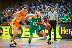 2# Filip Kruslin of KK Cedevita Olimpija during the friendly match between KK Cedevita Olimpija Ljubljana and Ratiopharm Ulm on 11.9.2019 in Hala Tivoli, Ljubljana, Slovenia. Photo by Urban Meglič / Sportida