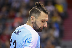December 16, 2017 - Krakow, Poland - Alexander Butko  (12) of VC Zenit Kazan in action  during the match between Sada Cruzeiro Volei and VC Zenit kazan during the semi finals of Volleyball Men's Club World Championship 2017 in Tauron Arena. (Credit Image: © Omar Marques/SOPA via ZUMA Wire)