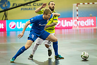 Ugra Yugorsk's Dmitri Lyskov and Inter FS's Ricardinho during UEFA Futsal Cup 2015/2016 Final match. April 22,2016. (ALTERPHOTOS/Acero)