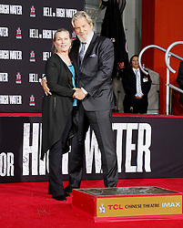 Susan Geston and Jeff Bridges at Jeff Bridges Hand And Footprint Ceremony held at the TCL Chinese Theatre IMAX in Hollywood, USA on January 6, 2017.