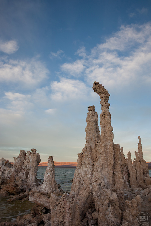 """Tufas at Mono Lake 14"" - These tufas were photographed at the South Tufa area in Mono Lake, California."