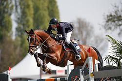Van Erp Jarno, NED, Bon Giorno Go<br /> Rivez Assuratiën Prijs<br /> Nederlands Kampioenschap Jumping Young Riders - Mierlo 2017<br /> © Hippo Foto - Dirk Caremans<br /> 20/04/2017