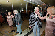 KEN RUSSELL; ELISE RUSSELL, The South Bank Sky Arts Awards , The Dorchester Hotel, Park Lane, London. January 25, 2011,-DO NOT ARCHIVE-© Copyright Photograph by Dafydd Jones. 248 Clapham Rd. London SW9 0PZ. Tel 0207 820 0771. www.dafjones.com.