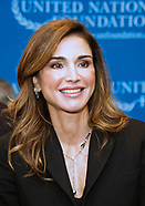 Queen Rania Attends UN Foundation Meeting