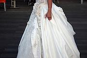 A Jewish bride in her wedding dress