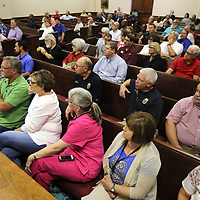 Lee County residents attend a public hearing concerning a new Lee County Law Enforcement Center Tuesday night at the Lee County Justice Center in Tupelo.