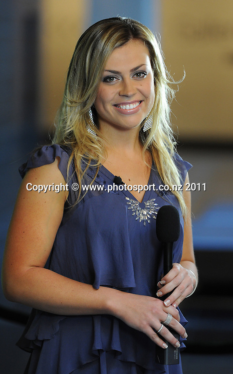 Sky TV presenter Laura McGoldrick. 2011 National Bank Cricket Awards held at the Auckland War Memorial Museum in Auckland, New Zealand on Thursday 10 November 2011. Photo: Andrew Cornaga / photosport.co.nz