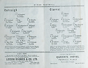 Munster Football Final Programme. Kerry v Cork. Cork Athletic Grounds. 18th July 1971. 18.07.1971.