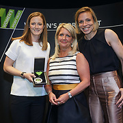London,England,UK. 11th May 2017. Andrea McIlroy-Rose presents the Sports Role Models - Teams awards to Helen Richardson-Walsh, Kate Richardson-Walsh at the Women's Sport Trust Awards - #BeAGameChanger at The Troxy,london, UK. by See Li