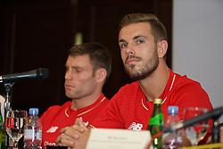 KUALA LUMPUR, MALAYSIA - Wednesday, July 22, 2015: Liverpool's captain Jordan Henderson during a press conference at the Saujana Hotel on day ten of the club's preseason tour. (Pic by David Rawcliffe/Propaganda)